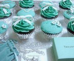 Tiffany's cupcakes! Perfection