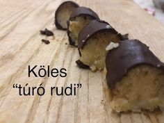 "Köles ""túró rudi"" és köles ""túrógombóc"" - YouTube Vegan Recipes, Pudding, Eat, Desserts, Youtube, Food, Drink, Diets, Tailgate Desserts"