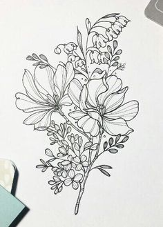 Floral flower drawing black and white illustration line flower doodle floral flower flowers doodle mightylinksfo