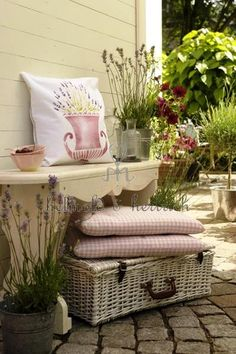 French Country Cottage patio.