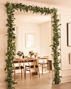 Our garlands also take a detour around expected forms: they serve as curtain tiebacks for instance or as a table runner. Hang them up to adorn a cabinet or hutch the living room mantel stair banisters or a decorative doorway.