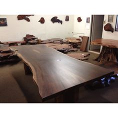 Raw edge wood table