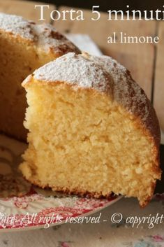 Torta 5 minuti al limone Cake Recipes For Kids, Delicious Cake Recipes, Cake Mix Recipes, Yummy Cakes, Sweet Recipes, Dessert Recipes, Desserts, Vegan Lemon Cake, Homemade Birthday Cakes