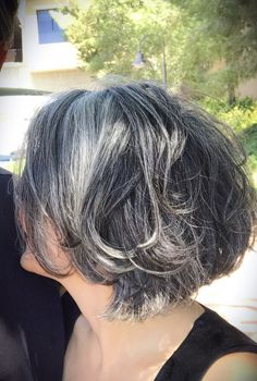 Salt and pepper gray hair. Grey hair. Silver hair. White hair. Granny hair don't care. No dye. Dye free. Natural highlights. Aging and going gray gracefully.