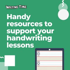 Writing Time - Handy resources to support your handwriting lessons Teaching Tips, Handwriting, Classroom, Reading, Penmanship, Class Room, Hand Lettering, Word Reading, Hand Drawn