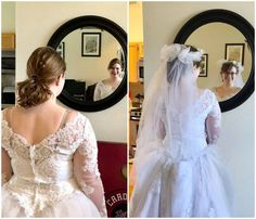 """""""NSV!! Started this plan in March to fit more nicely into my mother's wedding dress for my wedding in July! The first pic is March 30 and the second is May 24. I'm so excited!!!!"""" - Alexandria L. www.TrimHealthyMama.com"""