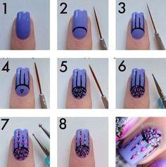 Nails Designs Step By Stepstep Nail Art Colorz Mgsgcry - Design de unhas ! Trendy Nail Art, Nail Art Diy, Easy Nail Art, Cool Nail Art, Diy Nails, Cute Nails, Fancy Nails, Simple Nail Designs, Beautiful Nail Designs