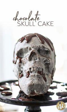 Chocolate Skull Cake   inspiredbycharm.com