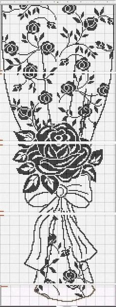 Crochet curtains in technique of roastberry stalk Crochet Curtain Pattern, Crochet Curtains, Crochet Doilies, Lace Curtains, Cross Stitch Borders, Cross Stitch Baby, Cross Stitch Patterns, Filet Crochet Charts, Crochet Stitches