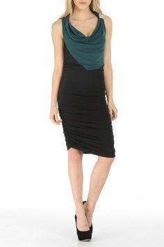 Ruched Color Block Dress