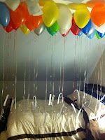 Love this! For someone's birthday blow up balloons for each year of their age and tie to it a reason why you love them!