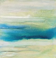 """Mixed Media Artists International: Abstract Landscape,Skyscape Painting """"In The Clouds"""" by California Artist Cecelia Catherine Rappaport"""