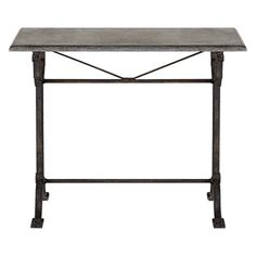 """Buchon 40"""" Rectangle Console Table With Iron Base"""
