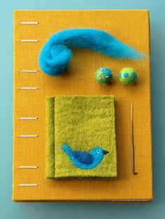 Needle felting: one of my favorite hobbies. This cute little needle book is by @Geninne D Zlatkis