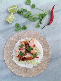PipFoods :: Gegrilde zalm tortilla met chili limoen yoghurt