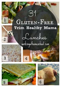 31 Trim Healthy Mama Lunch Ideas....great healthy and gluten-free THM lunches for anyone!