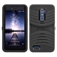 Consumer Electronics Original Reiko Huawei Vitria Hybrid Heavy Duty Case With Kickstand In Purple Black 100% Original