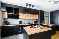 Modern Kitchen Design, Interior Design Kitchen, Kitchen Decor, Home Room Design, House Design, Japanese Interior Design, Black Kitchens, Kitchen Cupboards, House Rooms