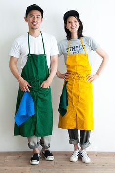 COTTON TWILL COLOR APRON (Long) | Simply online shop(シンプリー公式通販)