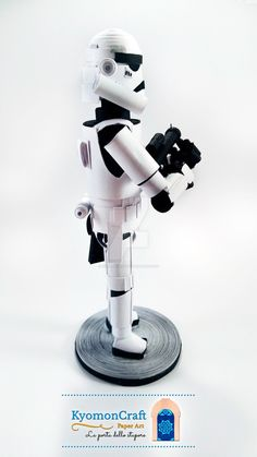 Quilling Star Wars Empire Stormtrooper  You can follow me on : Twitter:twitter.com/kyomoncraft Google +:plus.google.com/u/0/1012913581… Facebook:www....