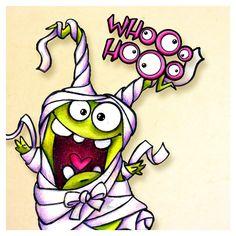 handdrawed mummy monster #halloween #freebie #digistamp #monster #illustration #erfolgreichillustrator