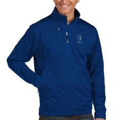 TPC Sawgrass Antigua Discover 1/2-Zip Pullover Jacket - Navy
