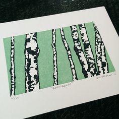 Ursprüngliche Reduktion Linolschnitt Block print: von ParchmentMoon