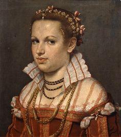 G.B.Moroni. Ritratto di Isotta Brembati Grumelli, 1550-55. Bergamo, Accademia Carrara.