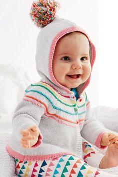 Buy Grey Hooded Multicoloured Stripe Cardigan (0-18mths) from the Next UK  online 2e8c68cb6e4c