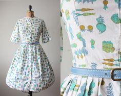 1950s garden dress