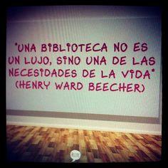 Una #biblioteca no es un lujo