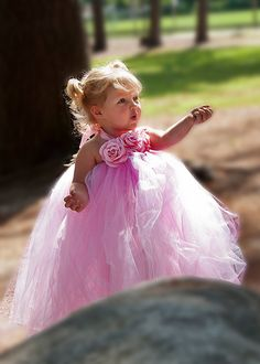 this is the sweetest flower girl dress and it could go with just about any wedding theme in the right colors....