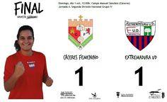 FINAL Jornada 4 Segunda División Grupo IV  Cáceres 1-1 Extremadura UD   Goles de Selene(CAC) y María Lara(EXT)   #soloparavalientes