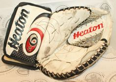 HEATON PRO 6800 HELITE 6 BRODEUR VINTAGE ICE HOCKEY GOALIE CATCH GLOVE SR LARGE #Heaton