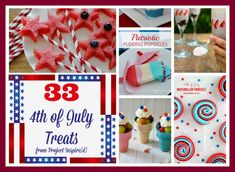 Mouth-watering red, white, and blue recipes... perfect for your 4th of July gathering are here for you. These sweet treats are sure to get your guests drooling and asking for more!