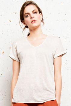 T-shirt Lin lyne - Ateliers de la Maille