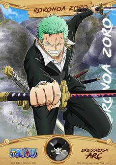 Roronoa Zoro ©Eichiro Oda Characters art & card design by Leegrove