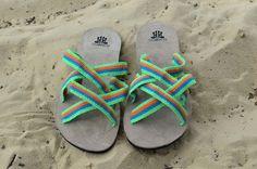 """WAYUU SANDALS US8.5/EUR41-42/UK8. Typical Wayuu Indian footwear called """"Wayrenas."""" www.colombiart.co"""