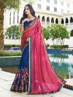 Latest Stylish Trends Of Party Wear Saree Designs In India women wear saree on their daily basis as their native clothing and identity at home, casual impression that only latest saree designs. Traditional Sarees, Traditional Fashion, Palazzo Dress, Palazzo Suit, Party Kleidung, Sari, Work Sarees, Bollywood Saree, Indian Beauty Saree