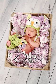 Lil' Owl Hat and Leg Warmer Set Photography Prop in by ALilLoopy, $40.00    Photo by Once Upon a Dream Family Photography - www.onceuponadreamphoto    Pattern by Angel's Chest - www.angelschest.etsy.com