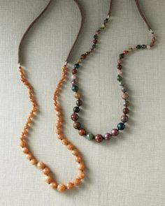 Chan Luu Graduated Stone Necklace