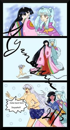 Naked Baby InuYasha and naked InuTaisho funny Oh my gosh!