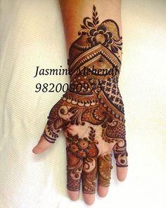 Henna bits n ideas Arabic Bridal Mehndi Designs, Modern Mehndi Designs, Mehndi Designs For Fingers, Beautiful Mehndi Design, Arabic Mehndi, Henna Mehndi, Mehendi, Henna Tattoo Hand, Henna Tattoo Designs