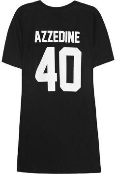 LPD New York Team Azzedine printed cotton-jersey T-shirt NET-A-PORTER.COM
