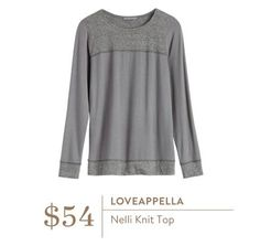 Ideas - Stitch Fix Loveappella Nelli Knit Top
