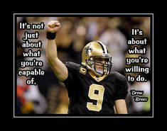 Football Motivation Quote Poster Gift For Men Inspirational Wall Art Photo Wall Decor New Orleans Drew Brees Kids Home by ArleyArt on Etsy Football Prayer, Football Quotes, Funny Football, Football Stuff, Nfl Football, Football Motivation, Wall Art Quotes, Quote Wall, New Orleans Saints Football