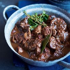 Beef and Guinness stew. So good on a cold, snowy day!