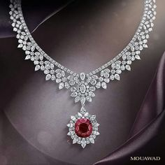 Mouawad Ruby and Diamond necklace - cool womens jewelry, cheap womens jewelry, cheap womens jewelry online Ruby Jewelry, Diamond Jewelry, Jewelery, Jewelry Necklaces, Fine Jewelry, Jewellery Box, Diamond Rings, Designer Jewellery, Silver Jewellery