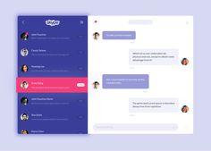 tumblr_o9eu58AVA51ul8y65o1_1280 Skype Redesign on Mac #ui #inspiration #interface #web #design All Mac Message