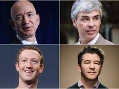 Algunos de los hombres más ricos del mundo gracias al internet.